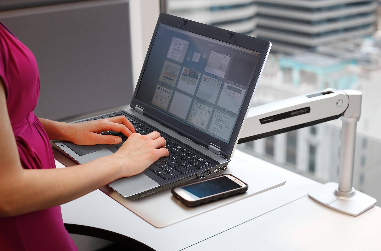 Postazione Ergonomica Per Computer workfit-p postazione di lavoro seduto-in piedi