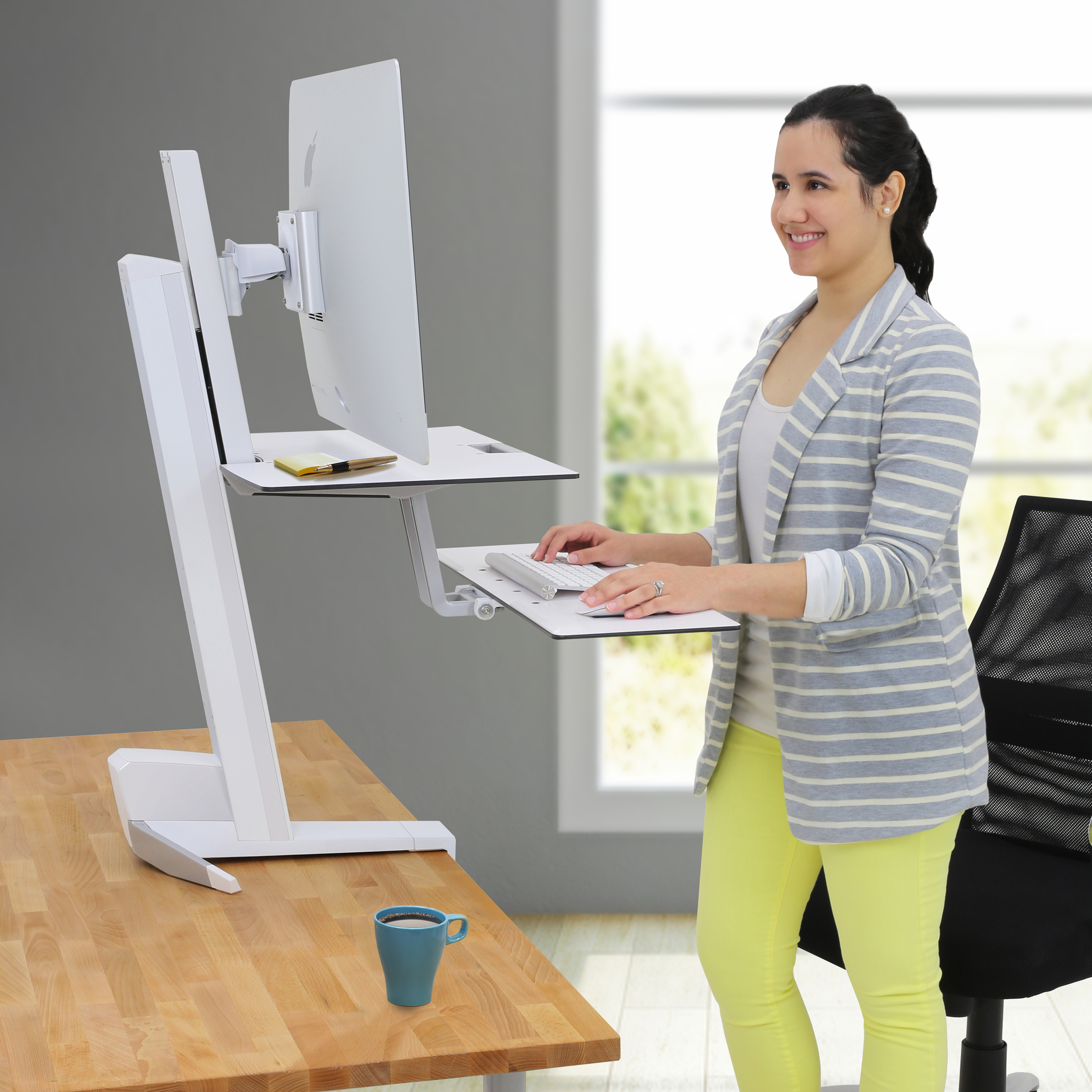 crank sit detail to desk height up store adjustable stand