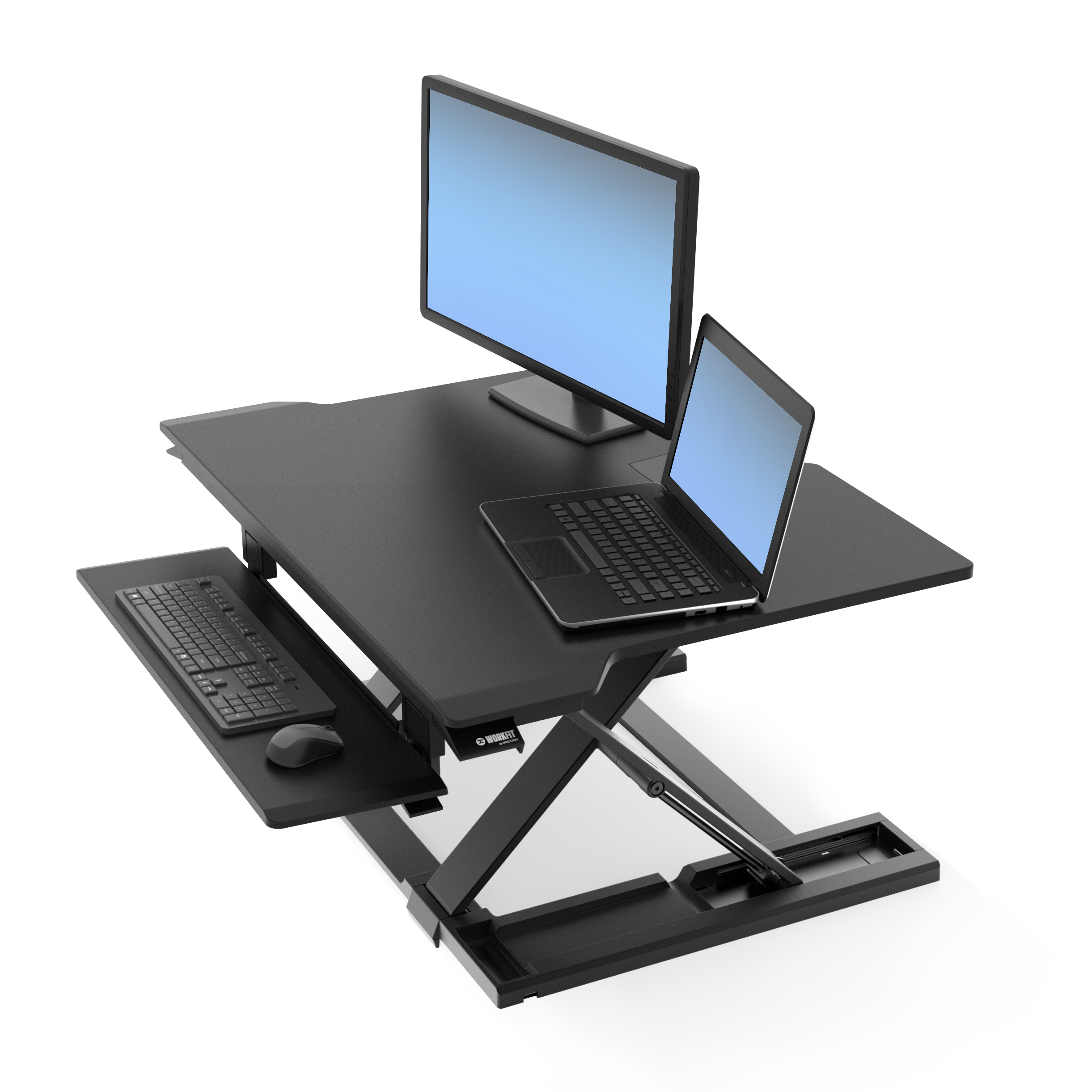 WorkFit-TX Sit-Stand Desk Workstation | Adjustable Standing
