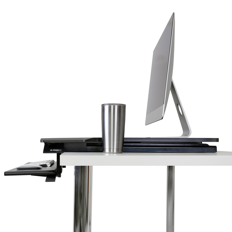 Sit Stand Desk Workstation Height Adjule Keyboard