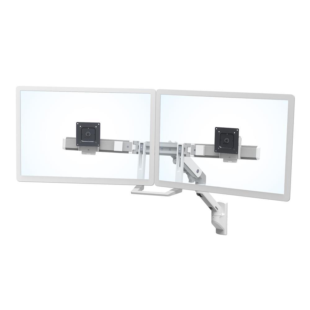 HX臺式雙配置監視器支臂 (亮白)45-479-216