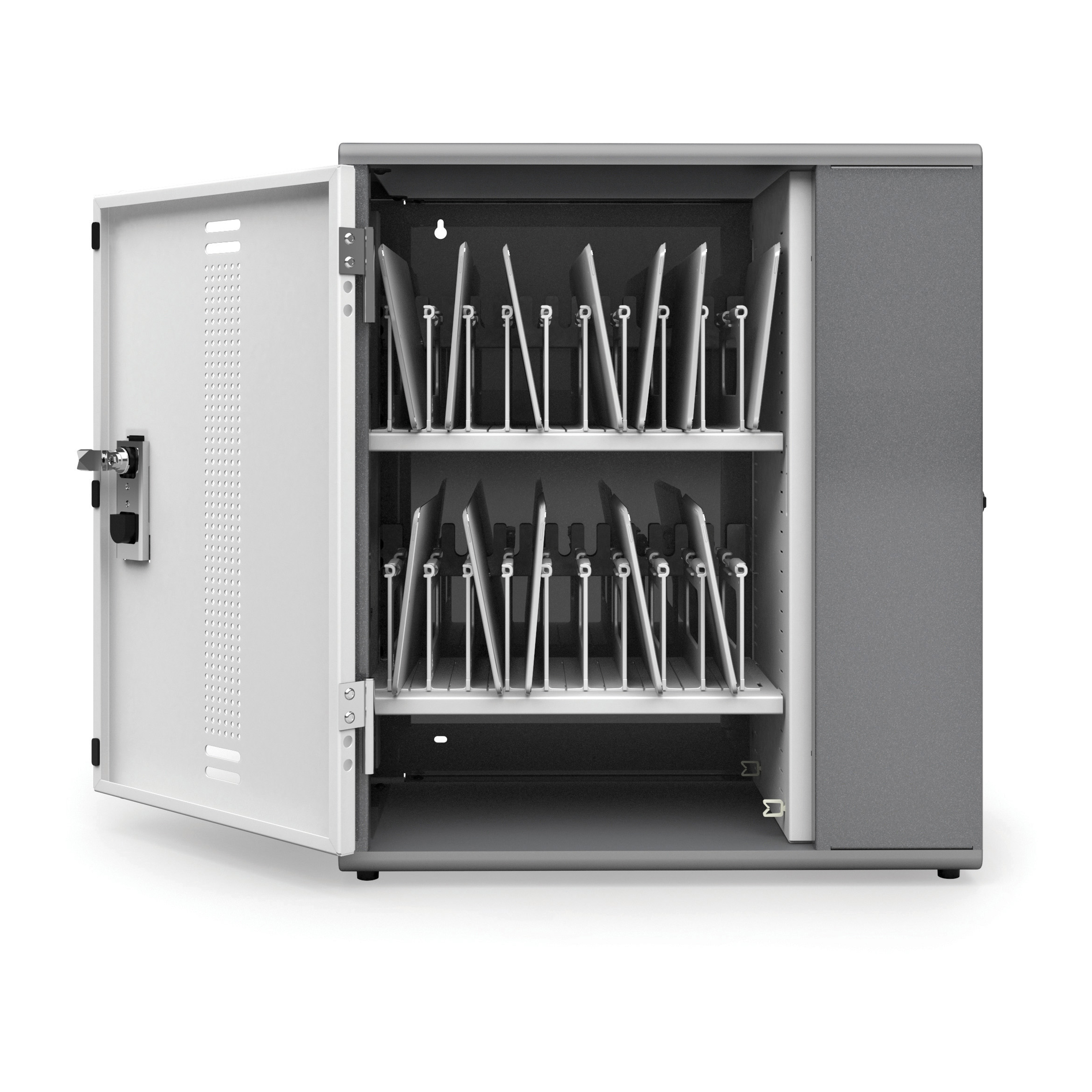 Ergotron YESCABGMPW Anthro YES Storage Cabinet for Tablets