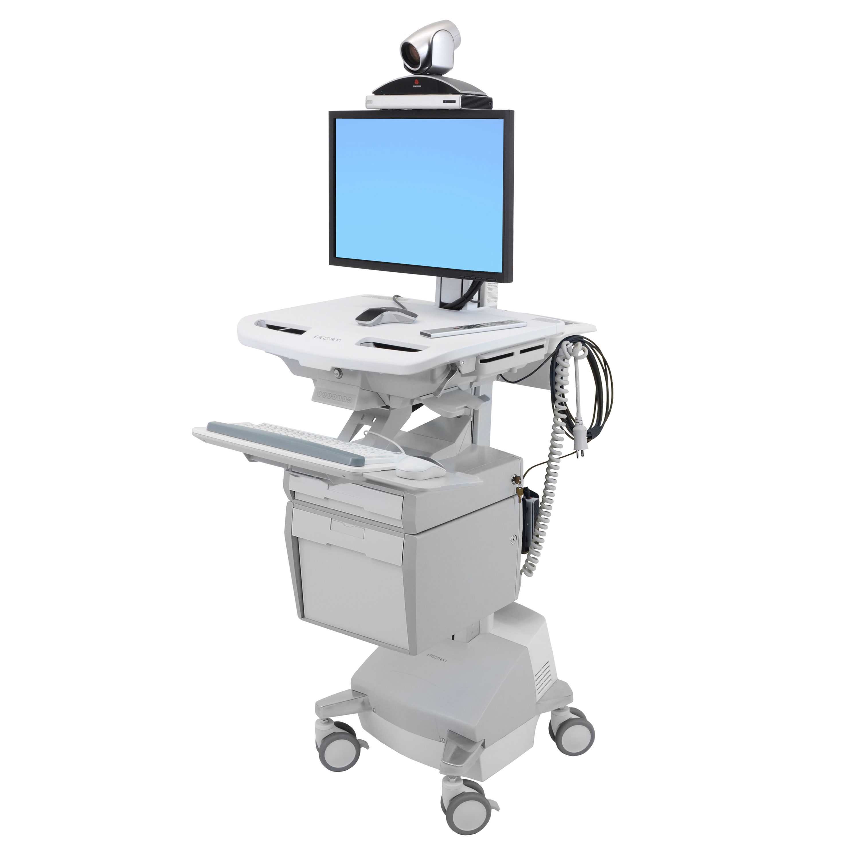 Ergotron SV44-53T1 StyleView Telemedicine Cart for